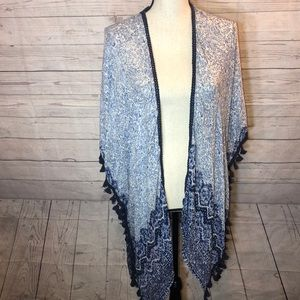 Sonoma NWT Coverup Flyaway NWT OS Blue Paisley